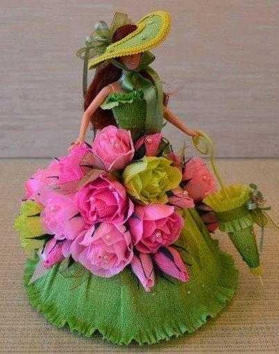 Мастер-класс кукла из конфет своими руками