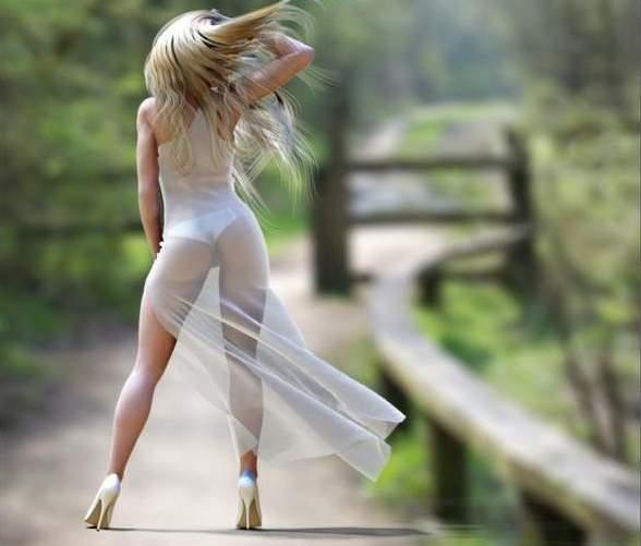 сексуальная блондинка со спины-яв2
